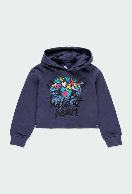 Fleece sweatshirt flame for girl - organic_1