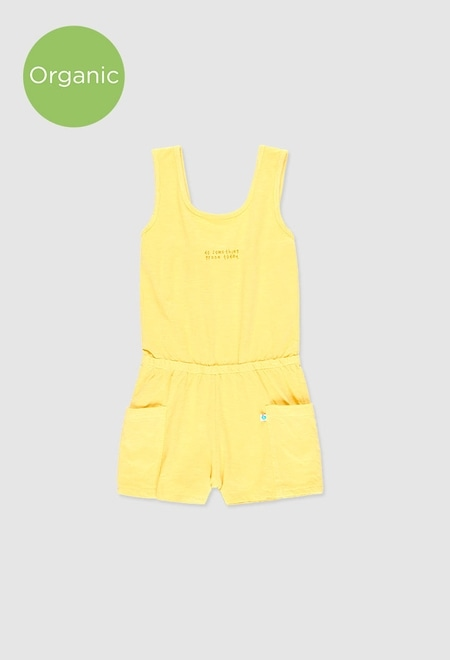 Knit jumpsuit flame for girl_1