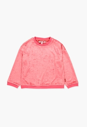 Sweatshirt velour für mädchen_1
