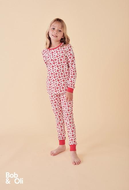 Pyjamas hearts for girl - organic_1