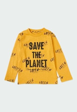 "Camiseta punto ""save the planet"" ORGANIC_1"