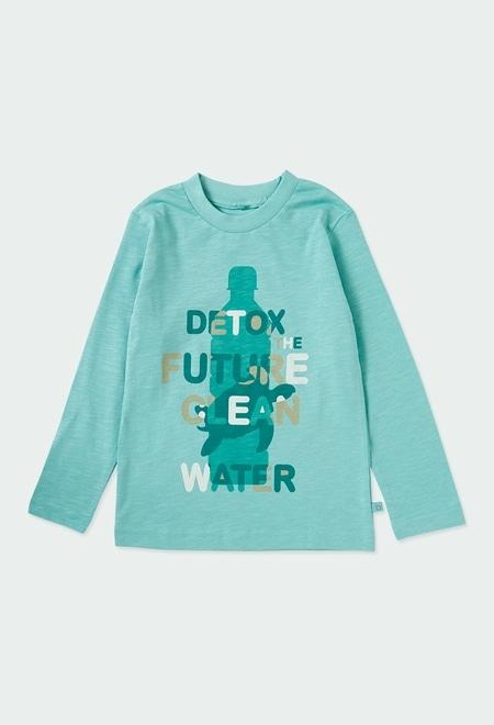 Knit t-Shirt flame for boy ORGANIC_1
