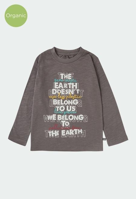 """T-Shirt gestrickt """"buchstaben"""" für junge ORGANIC_1"""