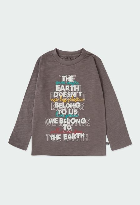 "Camiseta punto ""letras"" de niño ORGANIC_1"