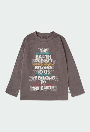 "Camiseta malha ""letras"" para menino ORGANIC_1"