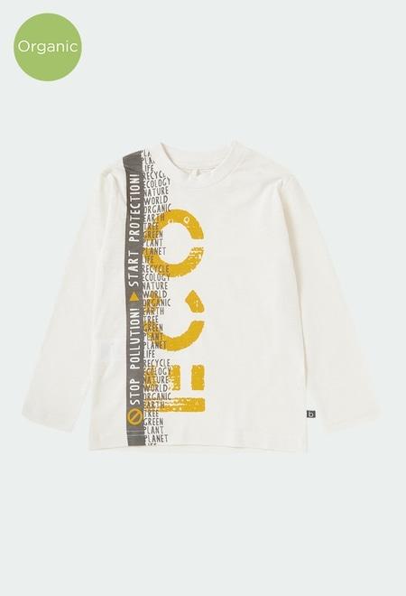 T-Shirt gestrickt flame für junge ORGANIC_1