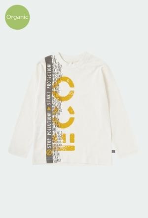 Camiseta punto flamé de niño ORGANIC_1