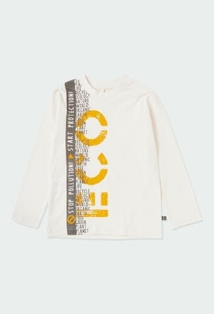 T-Shirt tricot flame pour garçon ORGANIC_1