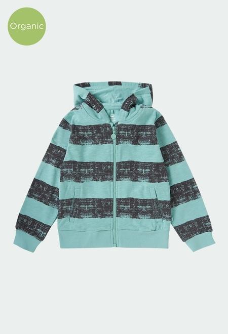 Fleece jacket striped for boy ORGANIC_1