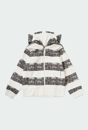 Fleece jacket striped for boy ORGANIC_1