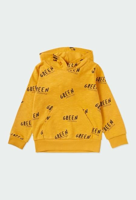 "Fleece sweatshirt ""letters"" for boy ORGANIC_1"