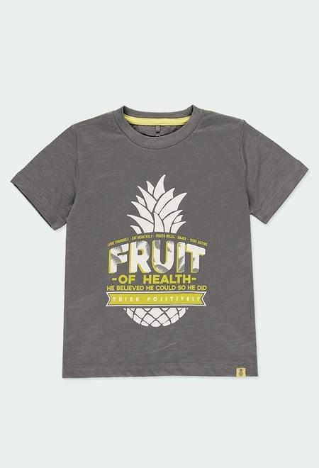 Camiseta punto piñas tropical de niño OR_1