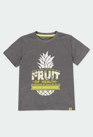 Knit t-Shirt pineapples for boy ORGANIC_1