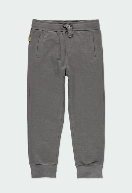 Fleece trousers flame for boy ORGANIC_1