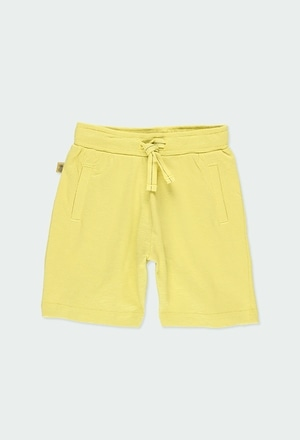 Knit bermuda shorts flame for boy ORGANIC_1