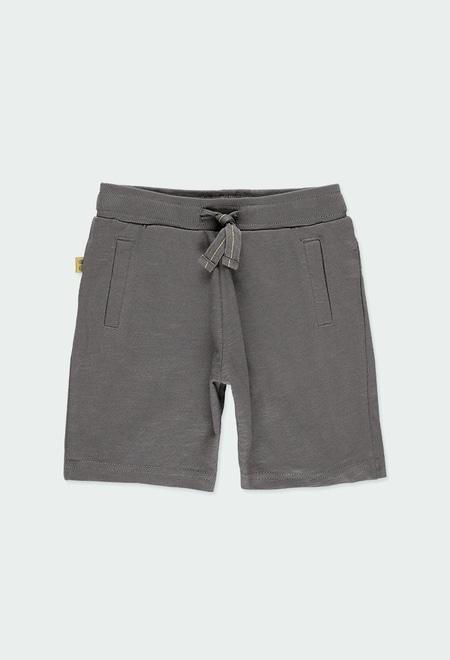 Knit bermuda shorts flame for boy ORGANIC_1