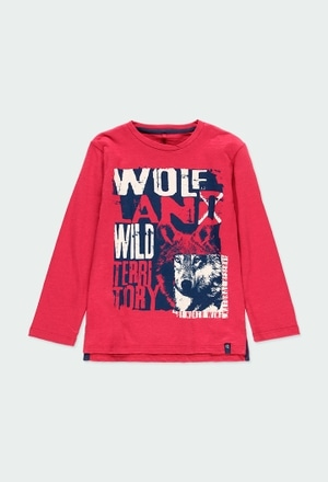 Knit t-Shirt flame for boy - organic_1