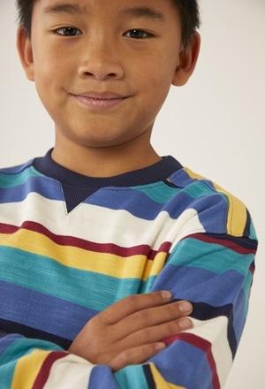 Fleece sweatshirt flame for boy - organic_1