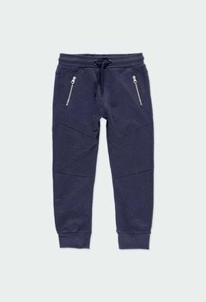 Fleece trousers flame for boy - organic_1