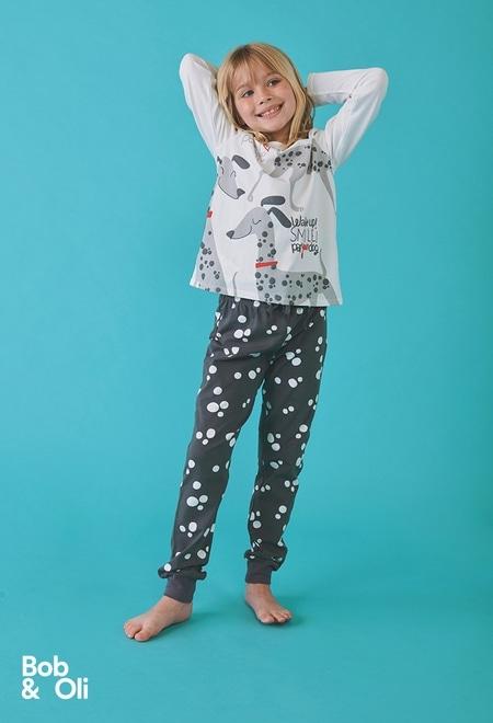 Pijama bolinhas para menina - orgânico_1