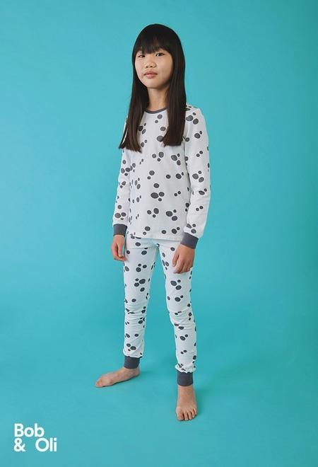 Schlafanzug polkatüpfel für mädchen - organic_1