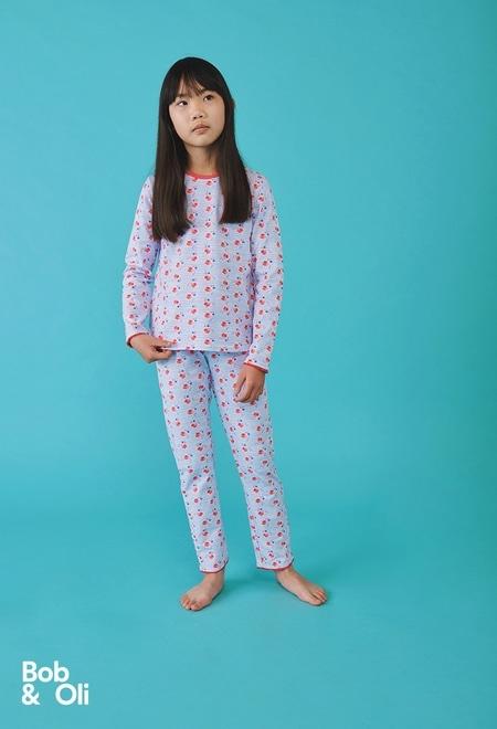 """Pijama """"floral"""" para menina - orgânico_1"""