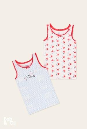 Pack 2 t-Shirts für mädchen - organic_1