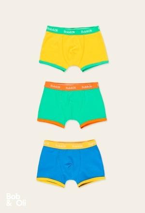 Pack de 3 boxers pour garçon - organique_1