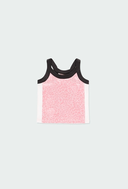 Camiseta punto animal print de niña_1