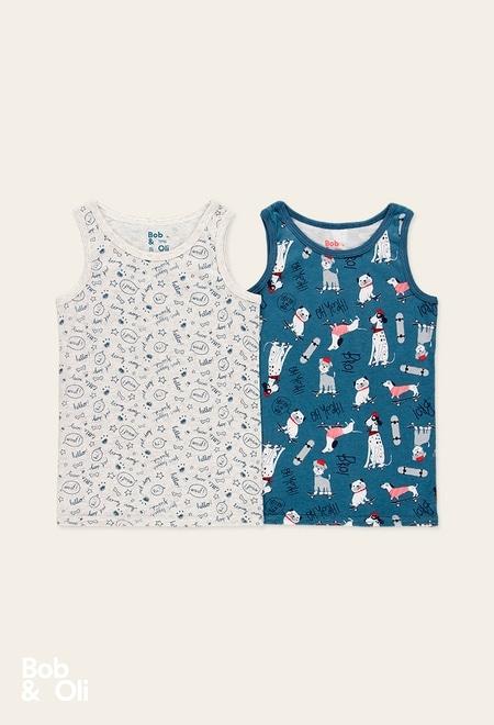 Pack 2 t-Shirts für junge - organic_1