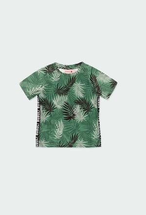 """Maglietta jersey """"foglie"""" per ragazzo_1"""