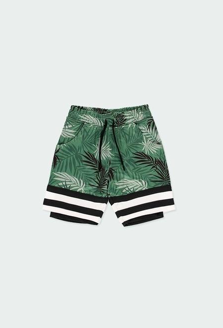 """Bermuda tricot """"feuilles"""" pour garçon_1"""