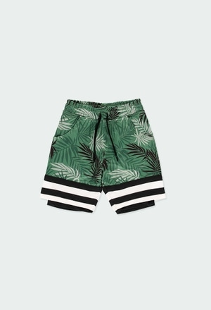 "Knit bermuda shorts ""leaves"" for boy_1"