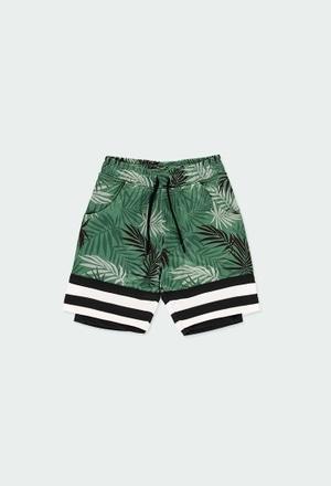 """Short  maglia """"foglie"""" per ragazzo_1"""