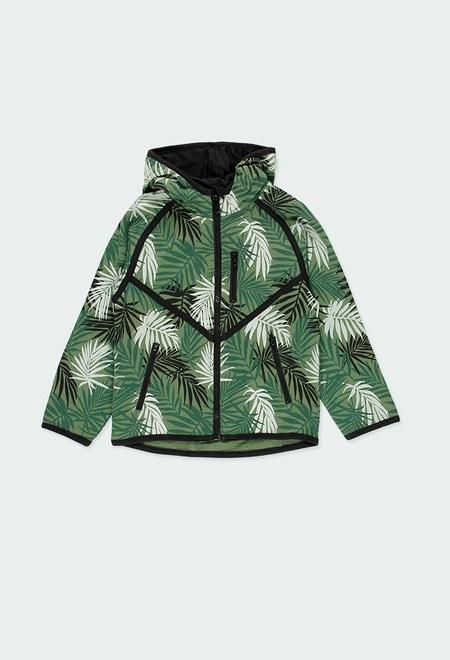 "Fleece jacket ""leaves"" for boy_1"