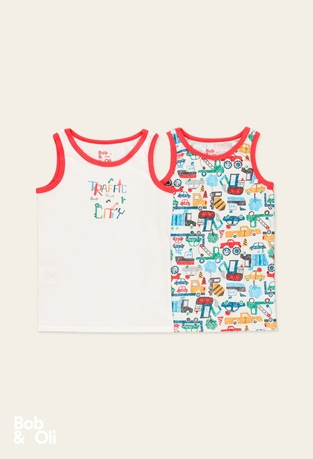Pack de 2 t-Shirts pour garçon - organique_1