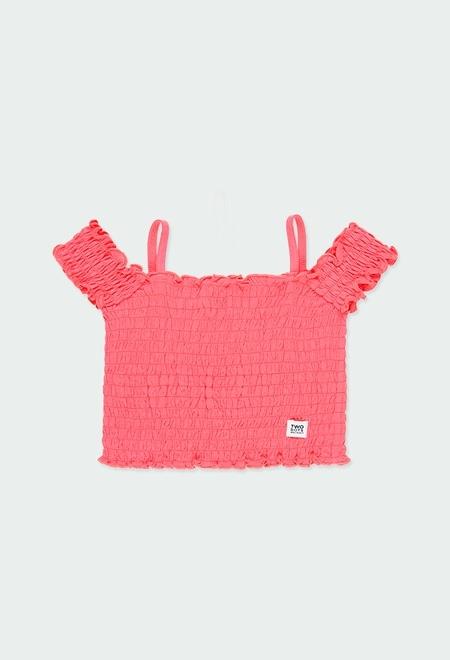 Camiseta punto engomada de niña_1