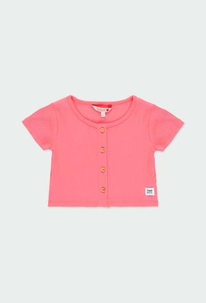 Camiseta punto canalé de niña_1