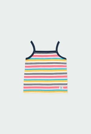 T-Shirt tricot à rayures pour fille_1