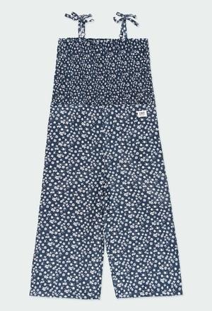 Viscose jumpsuit floral for girl_1