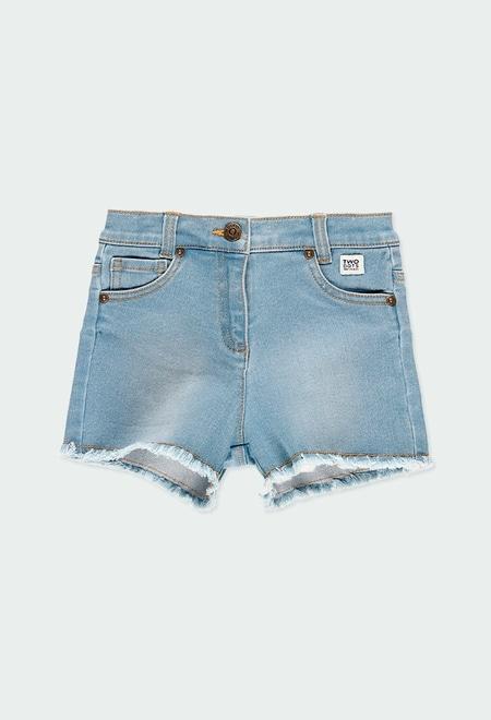 Short en jean stretch pour fille_1