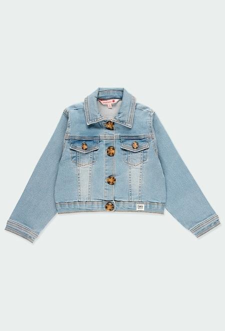 Veste en jean élastique pour fille_1