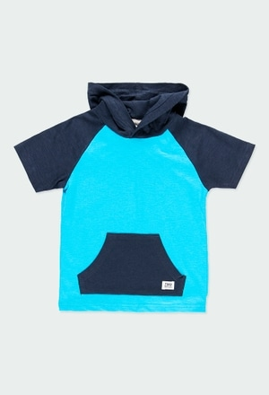 Knit t-Shirt hooded for boy_1