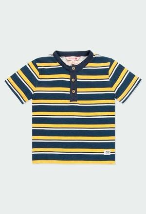 T-Shirt gestrickt mit knopfleiste für junge_1