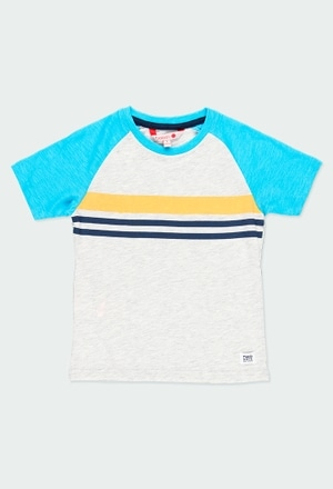 Knit t-Shirt flame for boy_1