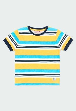 Camiseta punto flamé listada de niño_1