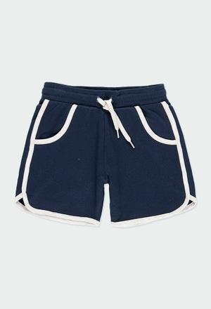 Fleece bermuda shorts flame for boy_1