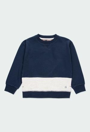 Fleece sweatshirt with stripes for boy_1