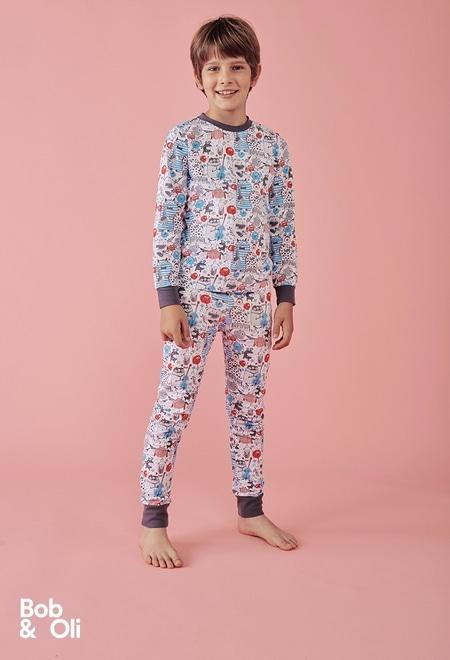 """Pijama """"Monster"""" de niño - orgánico_1"""