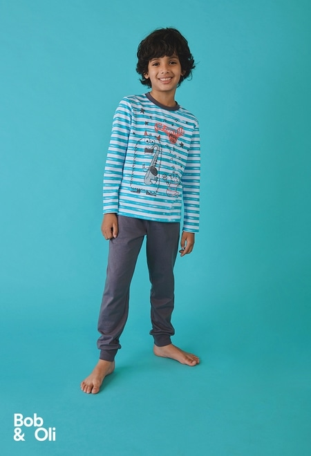 Pijama listado de niño - orgánico_1